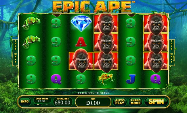 Play slots at Casino King: Casino King featuring the Video Slots Epic Ape with a maximum payout of $24,000