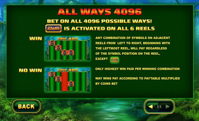 Betfred featuring the Video Slots Epic Ape with a maximum payout of $24,000