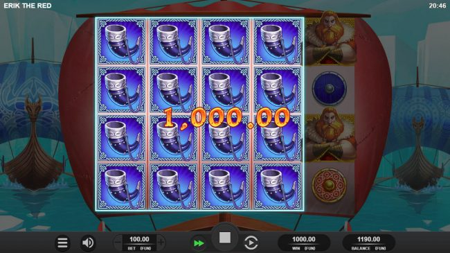Erik the Red :: Multiple winning paylines triggers a big win