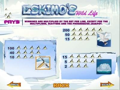 Tangiers featuring the Video Slots Eskimo's Wild Life with a maximum payout of Jackpot