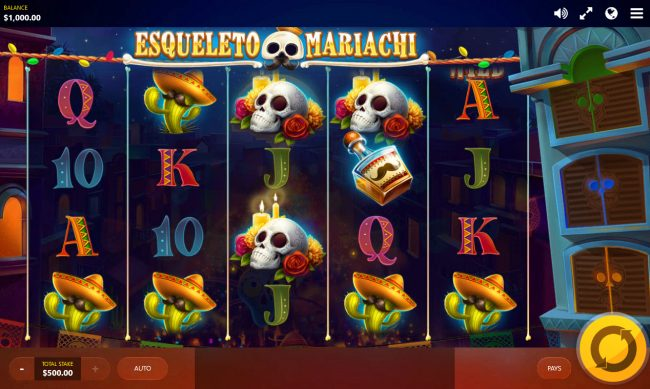 Play slots at Megaslot: Megaslot featuring the Video Slots Esqueleto Mariachi with a maximum payout of $150,000