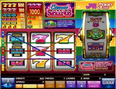 Play slots at Casdep: Casdep featuring the Video Slots Eternal Shine with a maximum payout of $2,000