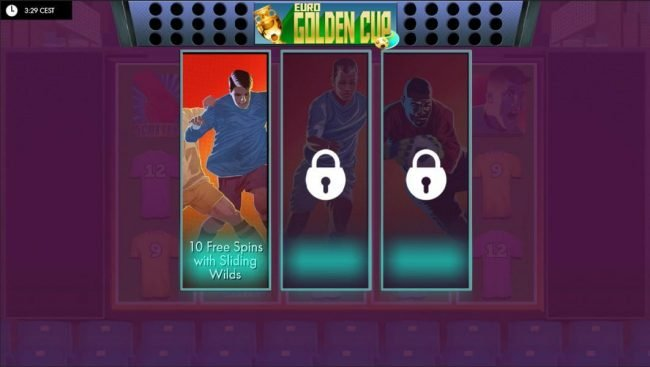 Yako Casino featuring the Video Slots Euro Golden Cup with a maximum payout of 10,000