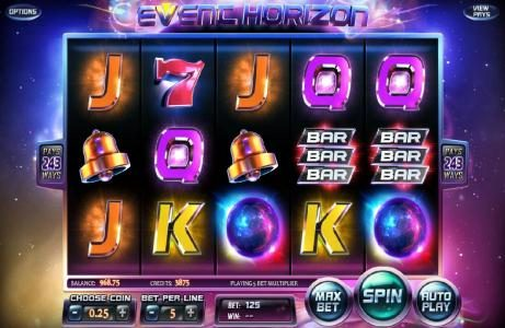 Supreme Play featuring the Video Slots Event Horizon with a maximum payout of $180,000