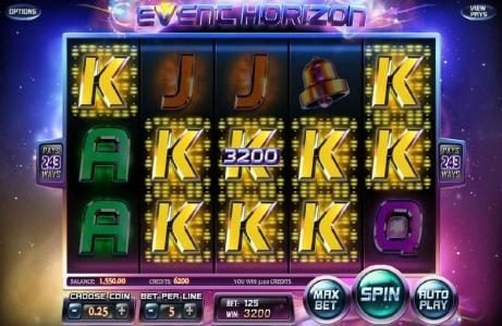 770Red featuring the Video Slots Event Horizon with a maximum payout of $180,000