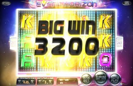 Play slots at Big Dollar: Big Dollar featuring the Video Slots Event Horizon with a maximum payout of $180,000