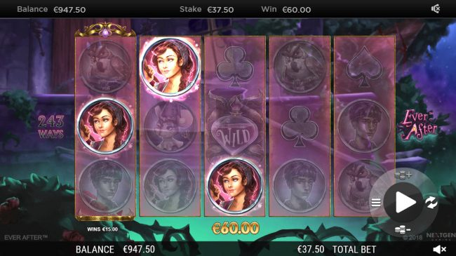 Crystal featuring the Video Slots Ever After with a maximum payout of $182,250