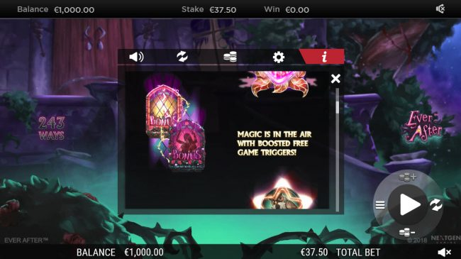 VIP Casino featuring the Video Slots Ever After with a maximum payout of $182,250