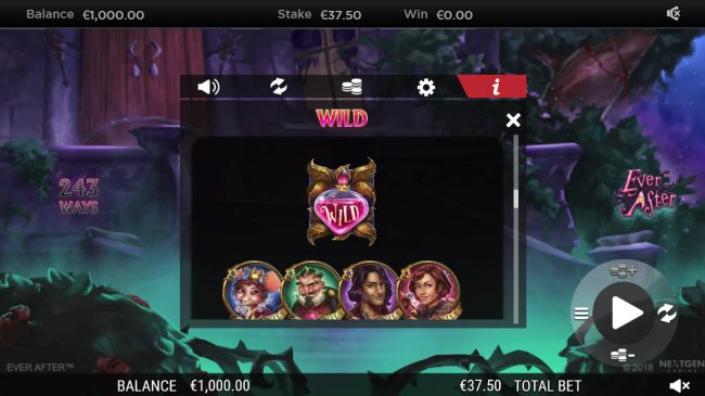 Money Reels featuring the Video Slots Ever After with a maximum payout of $182,250