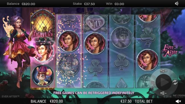 EU Casino featuring the Video Slots Ever After with a maximum payout of $182,250