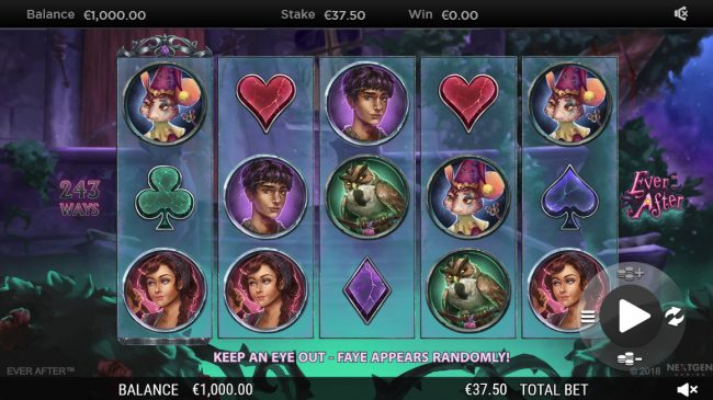 Zet Casino featuring the Video Slots Ever After with a maximum payout of $182,250
