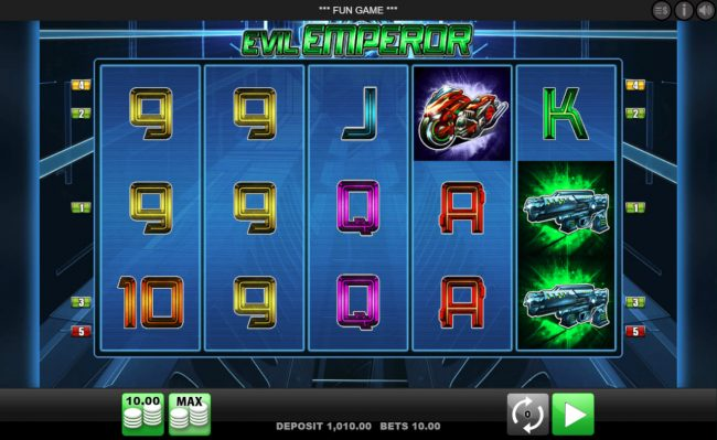 Play slots at Slottica: Slottica featuring the Video Slots Evil Emperor with a maximum payout of $25,000