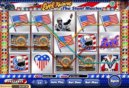 Play slots at Lincoln: Lincoln featuring the Video Slots Evil Knievel with a maximum payout of $100,000