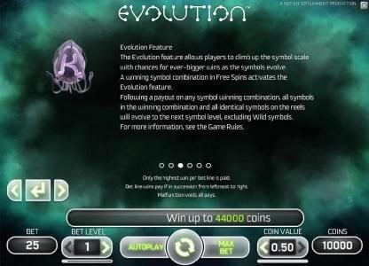 Vera&John featuring the Video Slots Evolution with a maximum payout of $2,500