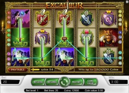 Roy Richie featuring the Video Slots Excalibur with a maximum payout of $40,000