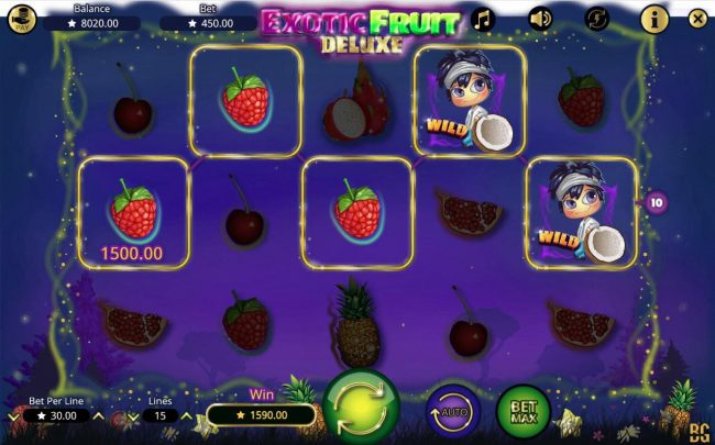 LaFiesta featuring the Video Slots Exotic Fruit Deluxe with a maximum payout of $300,000