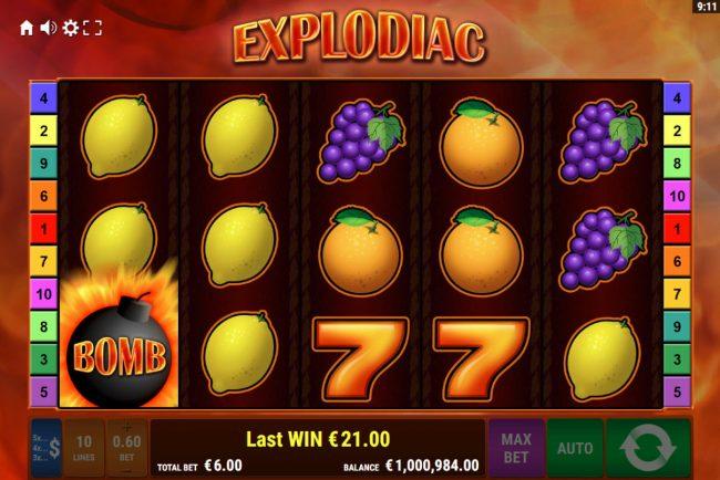 Explodiac :: Wild feature triggered