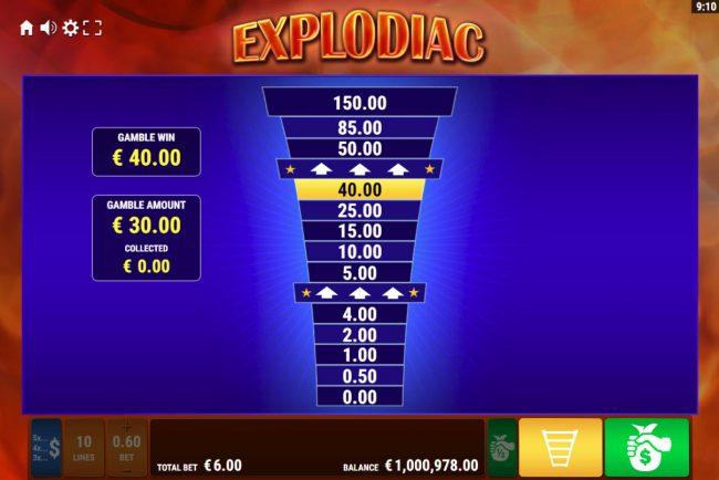 Explodiac :: Ladder Gamble Feature Game Board