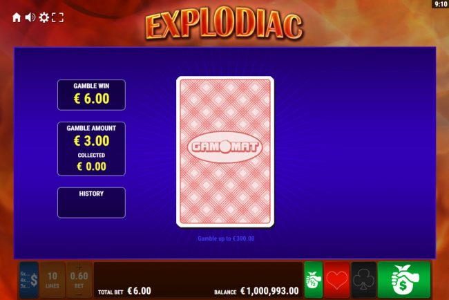 Explodiac :: Red or Black Gamble feature