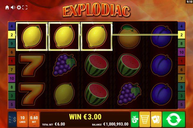 Explodiac :: A winning three of a kind