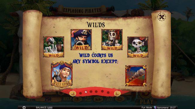 Exploding Pirates :: Wild Symbol Rules