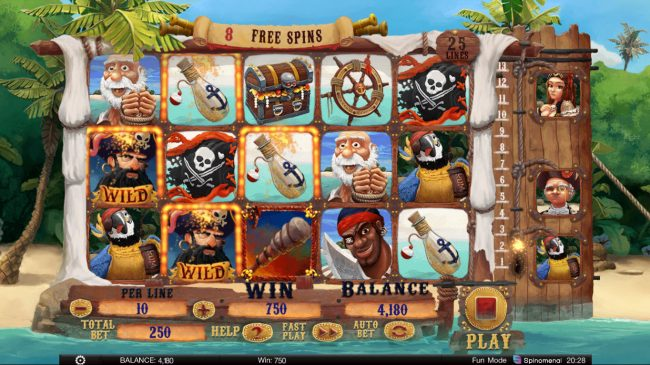 Exploding Pirates :: Free Spins Game Board