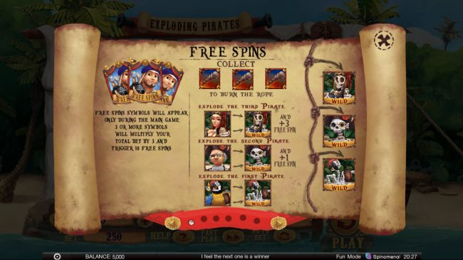 Exploding Pirates :: Free Spins Rules