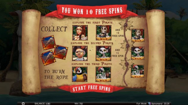 Exploding Pirates :: 10 Free Games Awarded