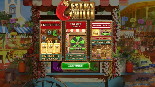 Play slots at Slotman: Slotman featuring the Video Slots Extra Chilli Megaways with a maximum payout of $1,000,000
