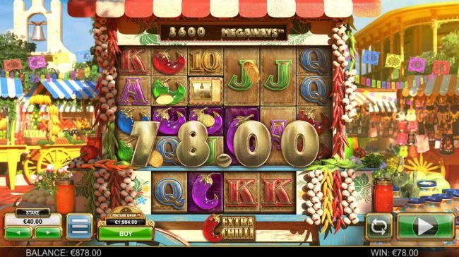 Casino-X featuring the Video Slots Extra Chilli Megaways with a maximum payout of $1,000,000