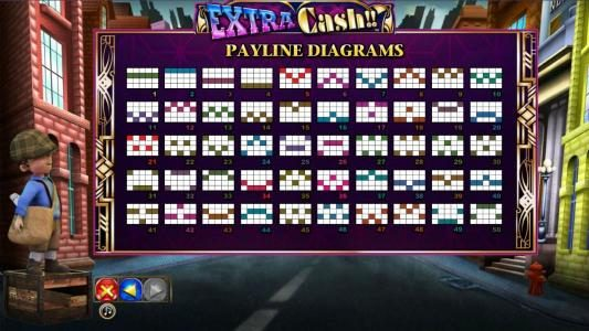 Extra Cash :: Payline diagrams