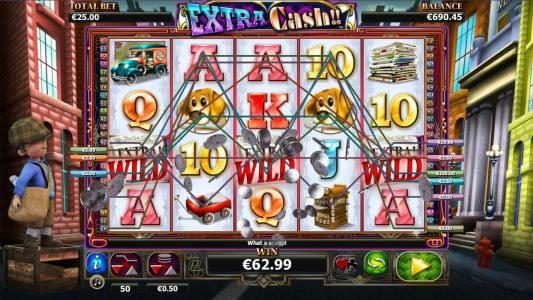 Thrills featuring the Video Slots Extra Cash with a maximum payout of $1,000