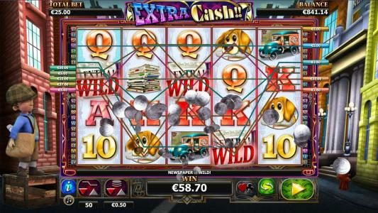 Hello featuring the Video Slots Extra Cash with a maximum payout of $1,000