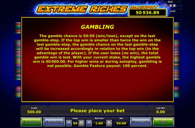 Extreme Riches :: Gamble Feature Rules