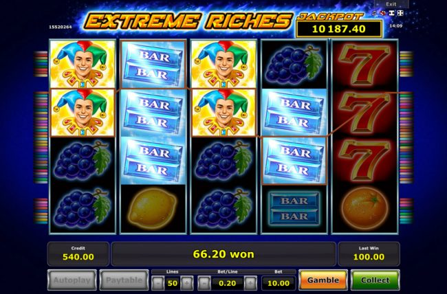 Extreme Riches :: Multiple winning paylines