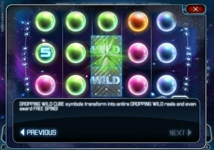 Extreme :: dropping wild cude symbols transform into entire dropping wild reels and even award free spins