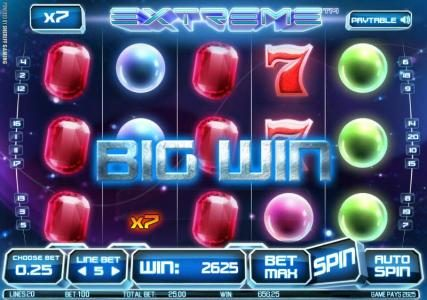 Extreme :: multiplier cube triggers 2625 coin big win jackpot