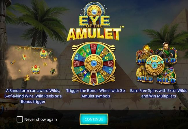 Play slots at SuperCat: SuperCat featuring the Video Slots Eye of the Amulet with a maximum payout of $100,000