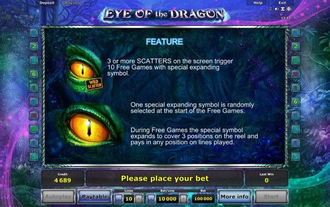 Eye of the Dragon :: Wild Symbol Rules