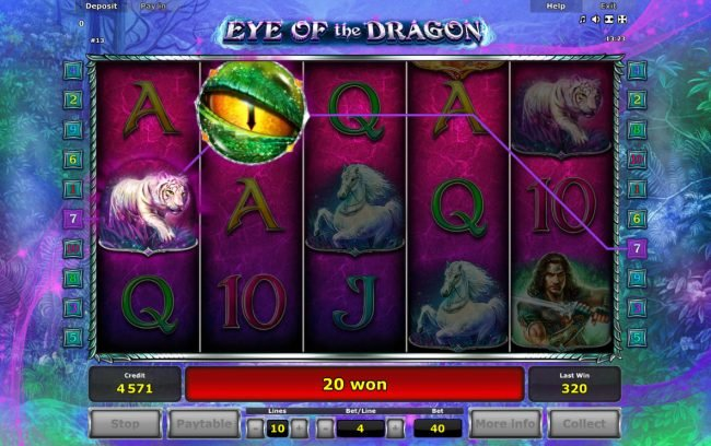 Eye of the Dragon :: Free Spins Game Board