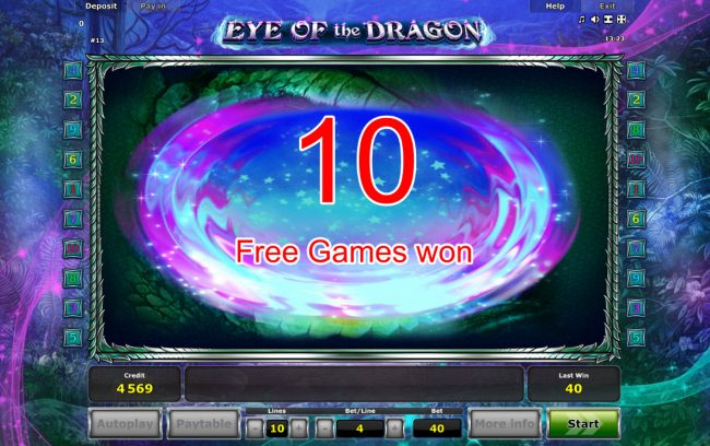 Eye of the Dragon :: 10 Free Games Awarded