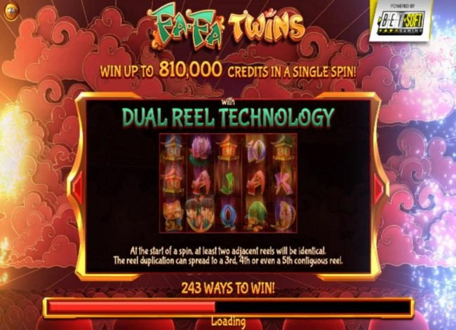 Win up to 810,000 credits in a single spin! with Dual Reel technology