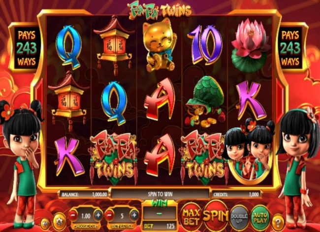 Lotus Asia featuring the Video Slots Fa Fa Twins with a maximum payout of $810,000