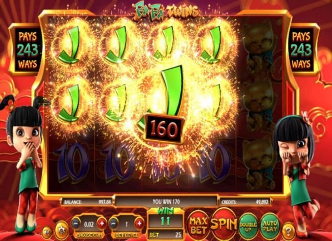 Vegas Crest featuring the Video Slots Fa Fa Twins with a maximum payout of $810,000