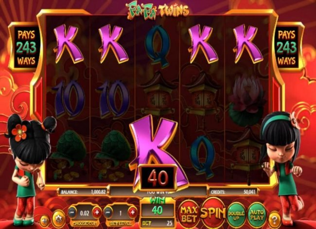 Play slots at Tangiers: Tangiers featuring the Video Slots Fa Fa Twins with a maximum payout of $810,000
