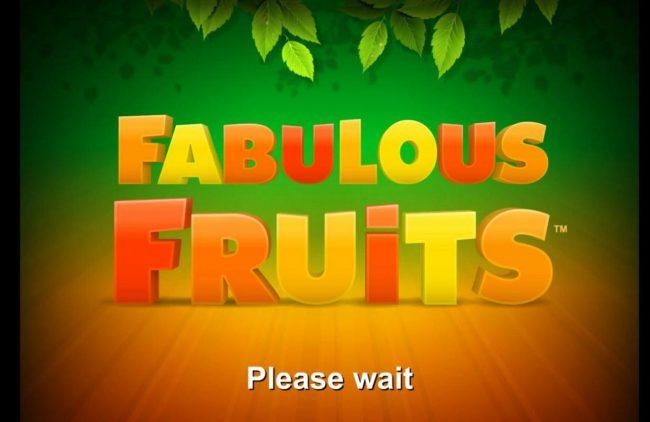 Fabulous Fruits :: Splash screen - game loading