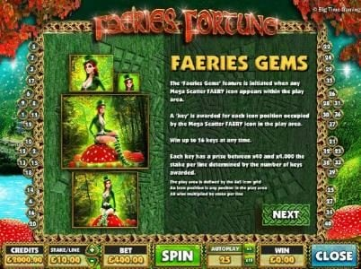 Dream Vegas featuring the Video Slots Faeries Fortune with a maximum payout of $1,000