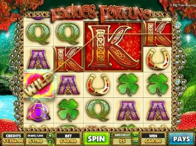 Faeries Fortune :: A mega icon triggers multiple winning paylines.