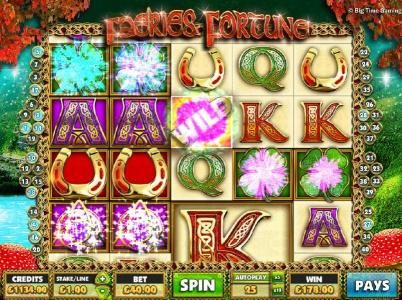 Faeries Fortune :: Multiple winning paylines triggers a 178.00 big win!
