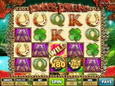 Faeries Fortune :: Pick a pot to reveal your prize award. Here we reveal an 80x the line bet for a 152.00 payout